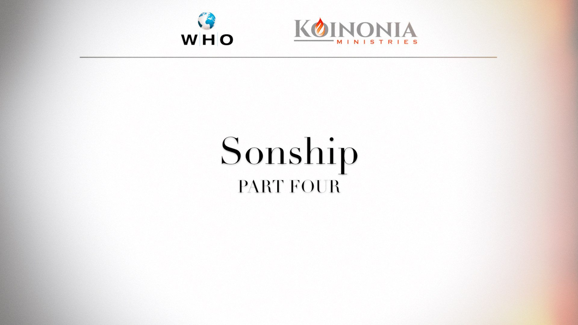 SONSHIP, PART 4 OF 4