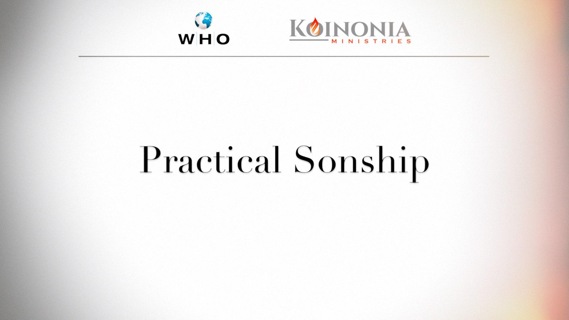 Practical Sonship